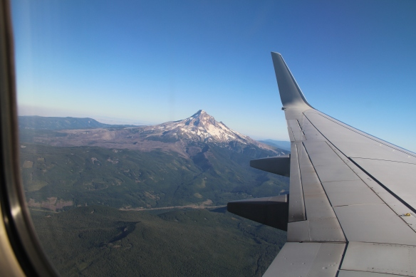 Flying into Portland