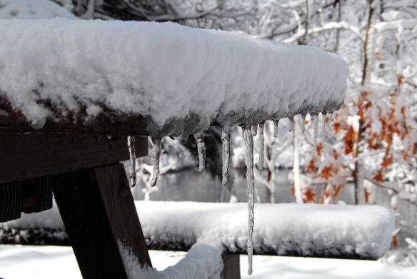 Picnic Table Icicle